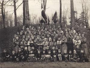Flok- og tropsbillede af 1. Silkeborg 1934 skænket af Ejner Wienberg Christiansen