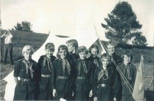 Paradislejrens indvielse juni 1955, Uglepatruljen, 2. Silkeborg. Indleveret af Kirsten Hartmann.